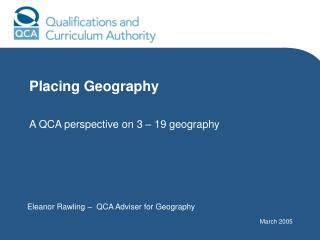 Placing Geography  A QCA perspective on 3   19 geography
