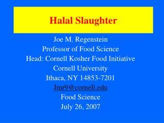 Halal Slaughter