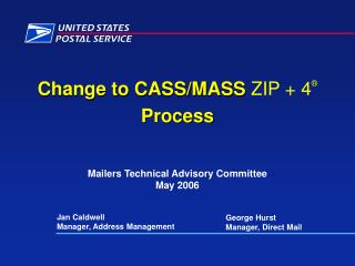 The Goal PMG has called for a 50 reduction in UAA mail by 2010 Effective August 1, 2007 All CASS