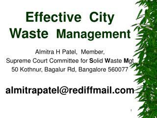 Effective  City Waste  Management