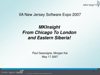 IIA New Jersey Software Expo 2007