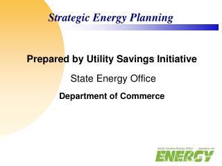 Strategic Energy Planning