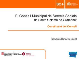 El Consell Municipal de Serveis Socials   de Santa Coloma de Gramenet  Constituci  del Consell