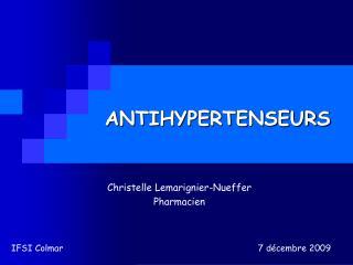 ANTIHYPERTENSEURS