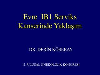 Evre  IB1 Serviks Kanserinde Yaklasim