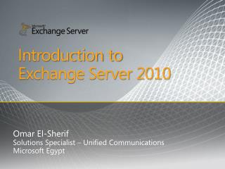 Introduction to Exchange Server 2010
