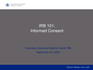 IRB 101: Informed Consent