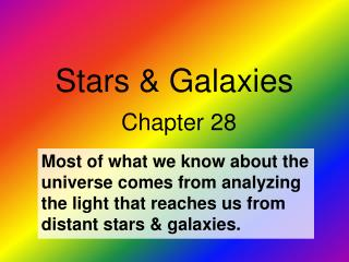 Stars  Galaxies  Chapter 28