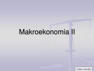 Makroekonomia II