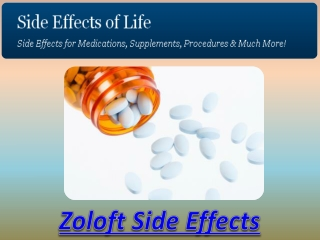 Zoloft Side Effects