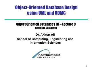 Object-Oriented Database Design  using UML and ODMG