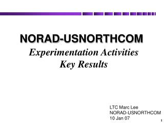 Experimentation Activities  Key Results