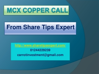 mcx copper call