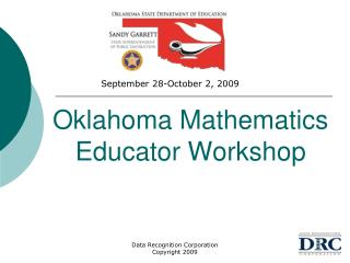 Oklahoma Mathematics Educator Workshop