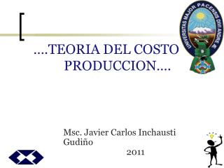 .TEORIA DEL COSTO DE PRODUCCION .
