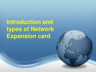 Introduction and types of network expansion card