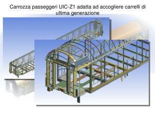 Carrozza passeggeri UIC-Z1 adatta ad accogliere carrelli di ultima generazione