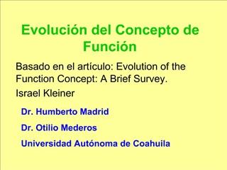 Evoluci n del Concepto de Funci n