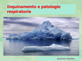 Inquinamento e patologie respiratorie