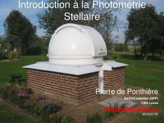 Introduction   la Photom trie Stellaire
