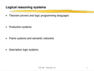 Logical reasoning systems