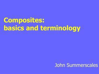 Basics and terminology