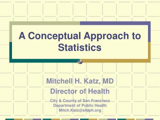 A Conceptual Approach to Statistics