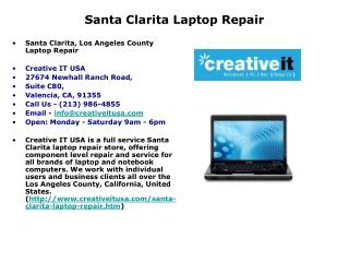 Santa Clarita Laptop Repair | Notebook Repairs Santa Clarita