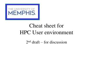 Cheat sheet for HPC User environment