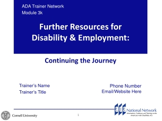 Tax Provisions for the Employment of People with Disabilities