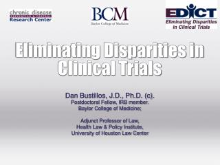 Eliminating Disparities in Clinical Trials