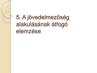 5. A j vedelmezos g alakul s nak  tfog  elemz se