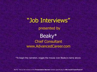 """Job Interviews"" presented by"