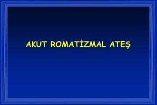 AKUT ROMATIZMAL ATES