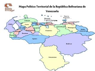 Mapa Pol tico Territorial de la Rep blica Bolivariana de Venezuela