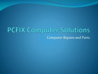 PCFIX Computer Solutions