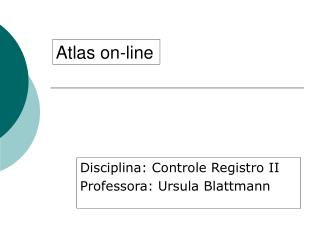 Atlas on-line