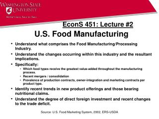 U.S. Food Manufacturing