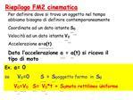 Riepilogo FM2 cinematica