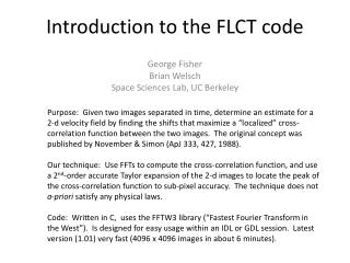 Introduction to the FLCT code
