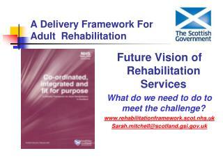 A Delivery Framework For Adult  Rehabilitation