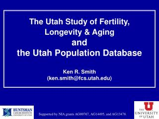 The Utah Study of Fertility