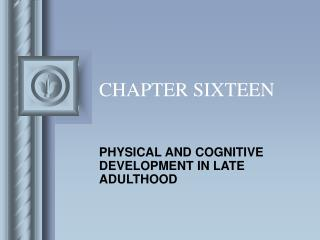 CHAPTER SIXTEEN PHYSICAL AND COGNITIVE DEVELOPMENT IN LATE ...