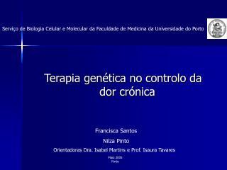 Terapia gen tica no controlo da dor cr nica