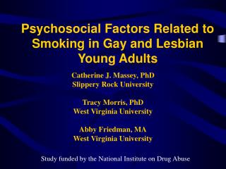 Psychosocial Factors Related to Smoking in Gay and Lesbian Young Adults