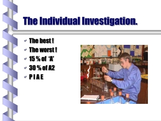 The Individual Investigation