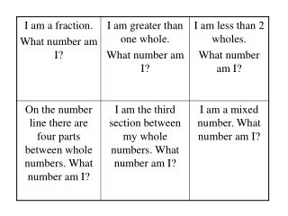 Use the number line to help you and your team identify what number I am looking for.