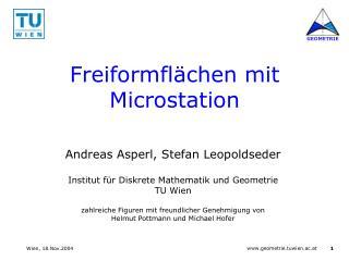 Freiformfl chen mit Microstation