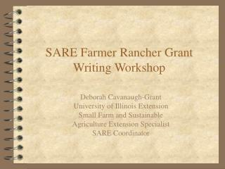 SARE Farmer Rancher Grant Writing Workshop PowerPoint ...
