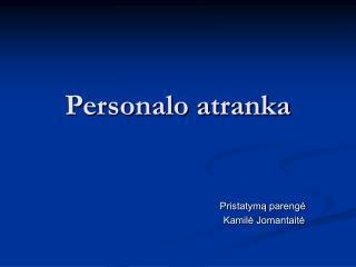 Personalo atranka